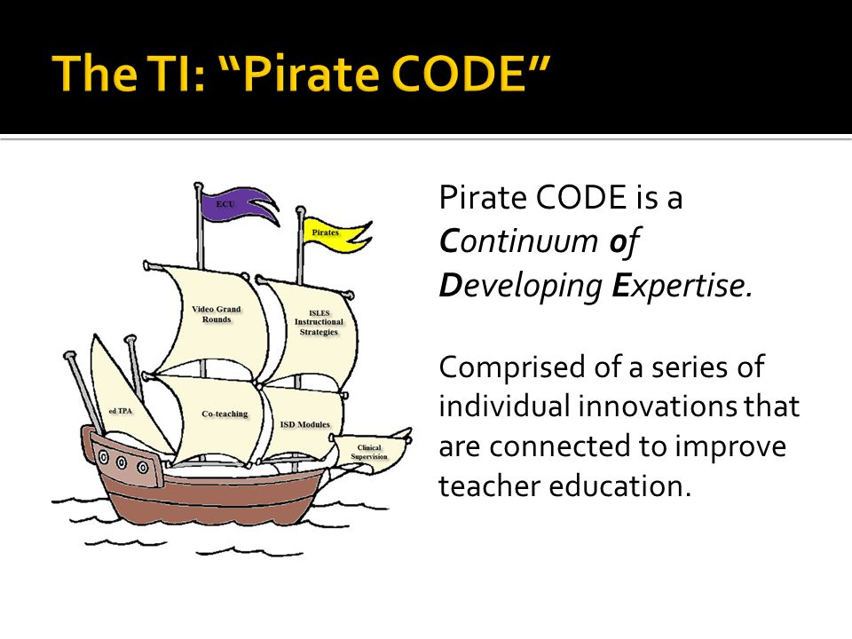 Pirate CODE is a Continuum of Developing Expertise.