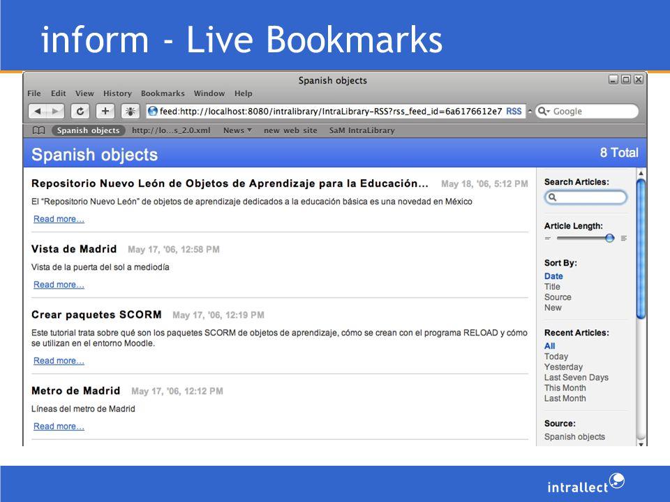 inform - Live Bookmarks