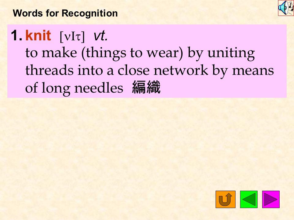 Words for Production 24. version [`v3Z1n] n.