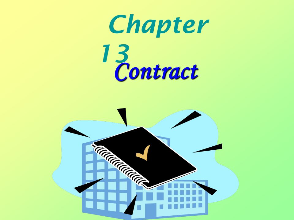 Chapter 13 Contract