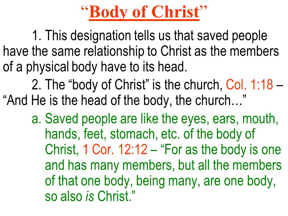 Body of Christ 1.