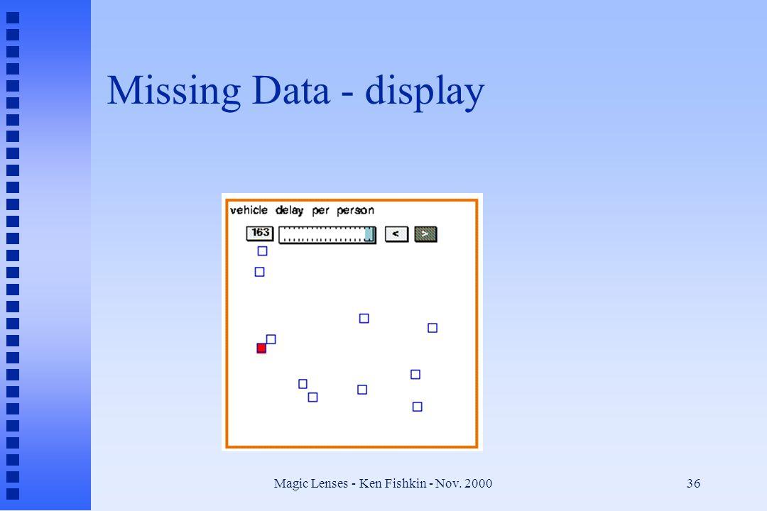 Magic Lenses - Ken Fishkin - Nov. 200036 Missing Data - display