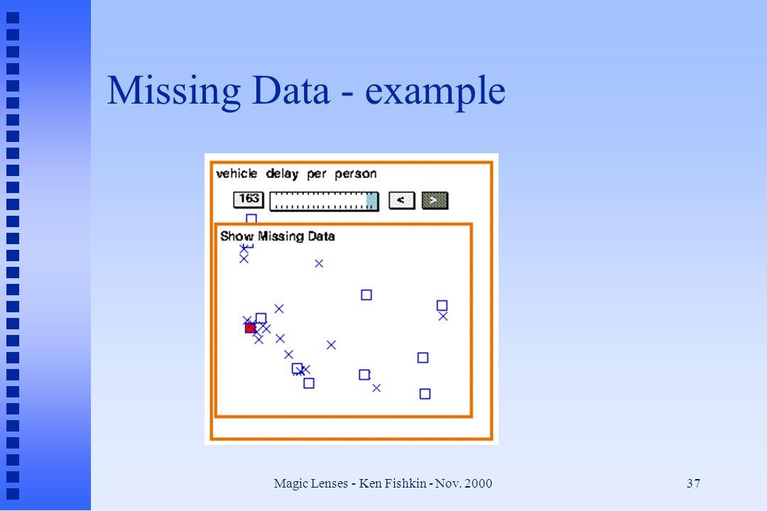 Magic Lenses - Ken Fishkin - Nov. 200037 Missing Data - example