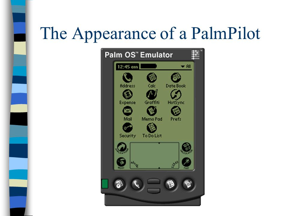 The Appearance of a PalmPilot