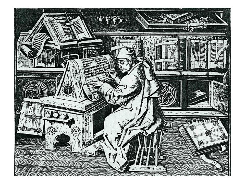 Since antiquity it had been scribes and later, monks in the Medieval period, who copied all manuscripts by hand … Johann Gutenberg invented a printing press – or, the technique of printing from movable blocks of type letters.