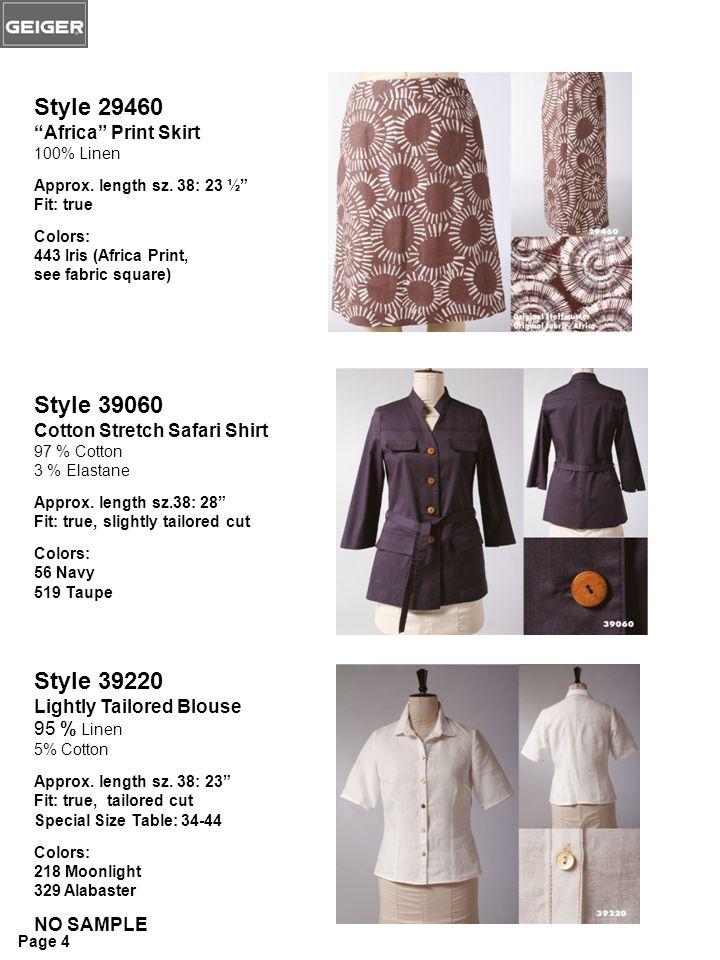 Style 29460 Africa Print Skirt 100% Linen Approx.