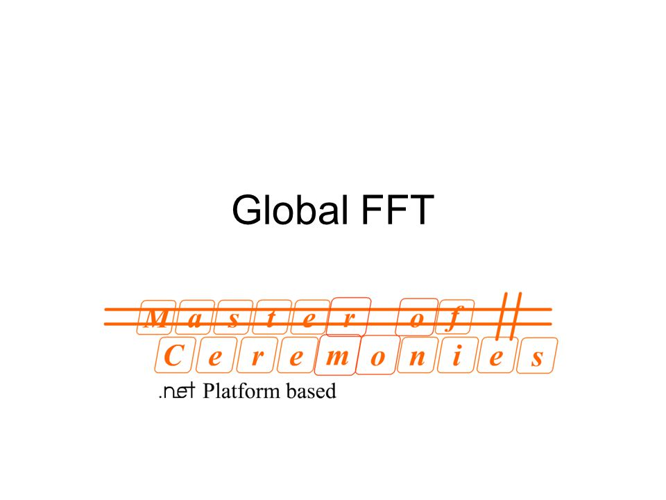 In this submission we'll show how to implement GlobalFFT in MC# programming language and we'll try to concentrate on the process of writing parallel distributed programs, but not on the performance/number of lines issues.