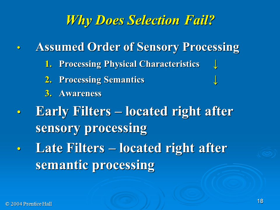 © 2004 Prentice Hall 18 Why Does Selection Fail.