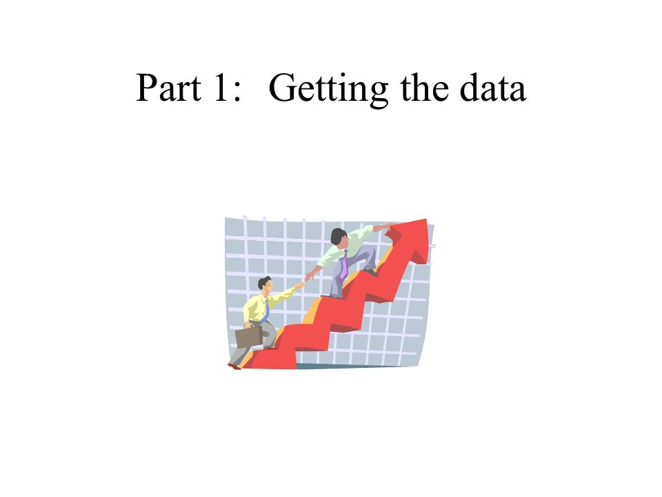 Part 1:Getting the data