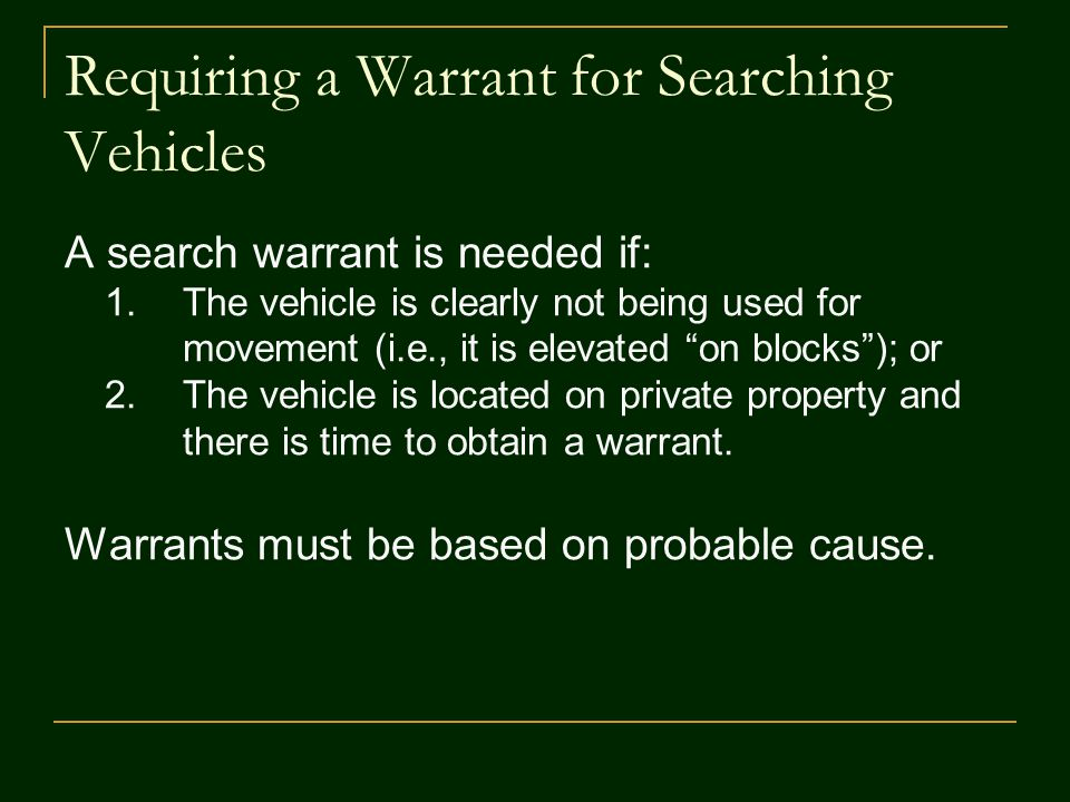 Delay in Search A delay in the warrantless search and a change in the vehicle's location may be permissible under the Carroll doctrine.