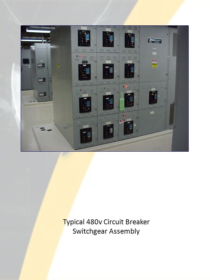 Typical 480v Circuit Breaker Switchgear Assembly