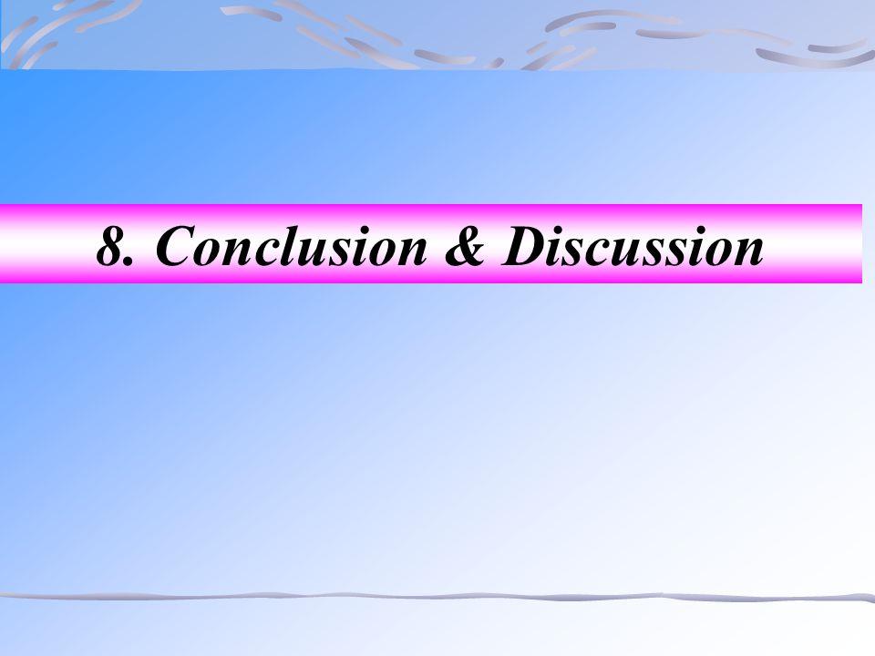 8. Conclusion & Discussion