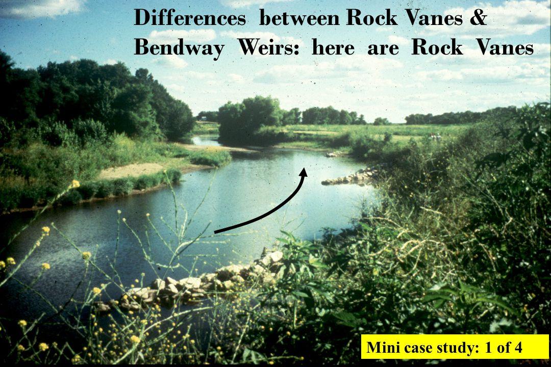 Phil Balch builds Bendway Weirs a little taller & gets great wetlands between weirs.