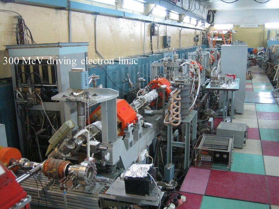 Linacs hall 300 MeV driving electron linac