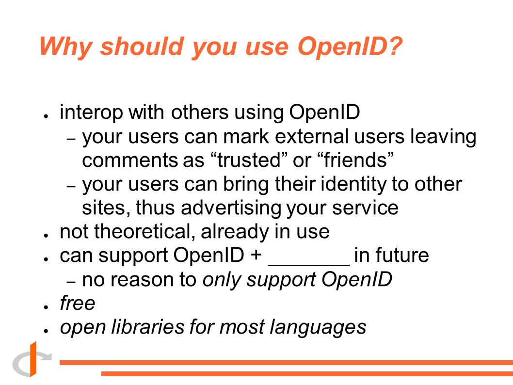 Why should you use OpenID.