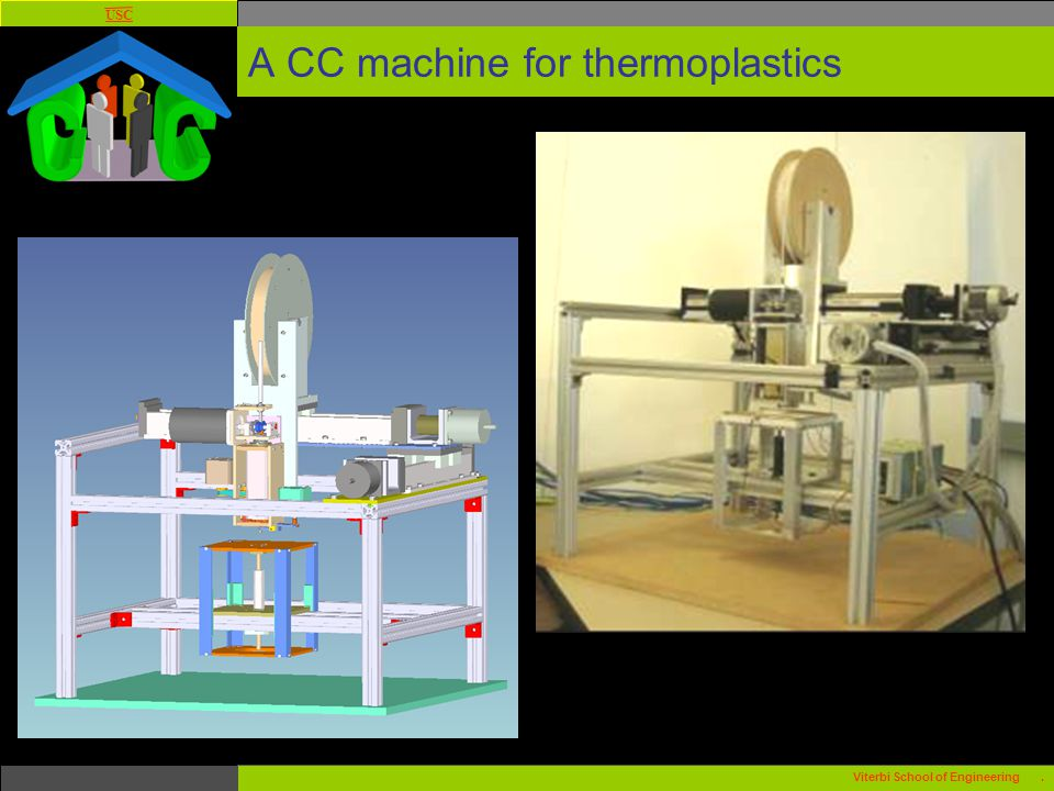 USC Viterbi School of Engineering. A CC machine for thermoplastics