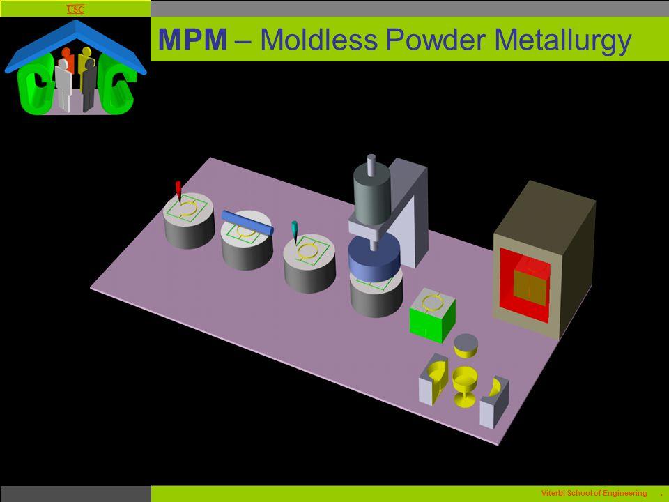 USC Viterbi School of Engineering. MPM – Moldless Powder Metallurgy