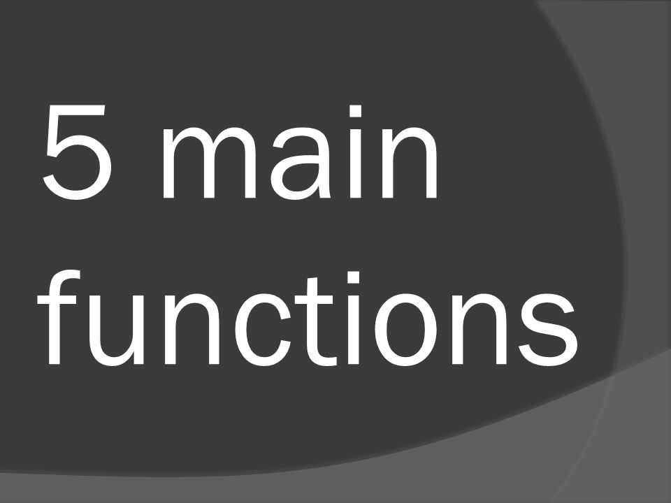 5 main functions
