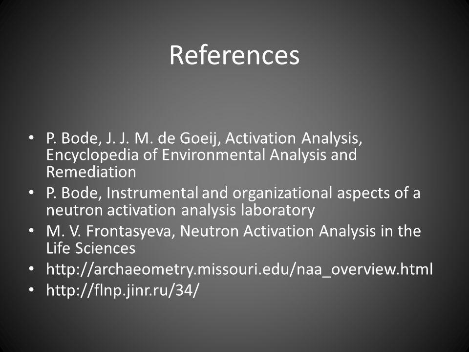 References P. Bode, J. J. M.