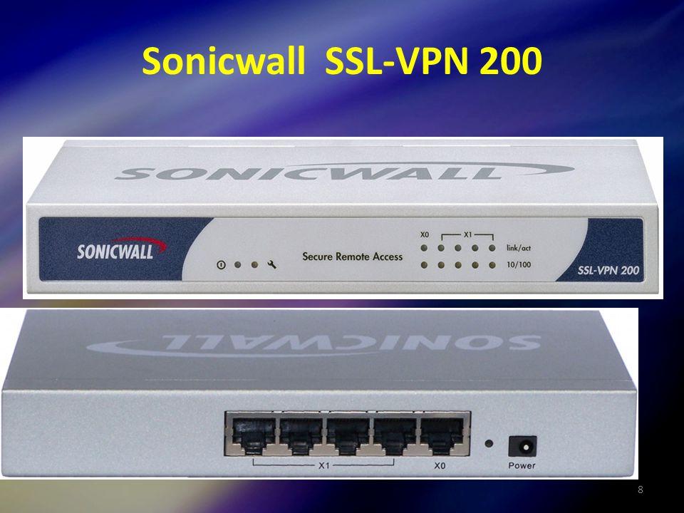 8 Sonicwall SSL-VPN 200