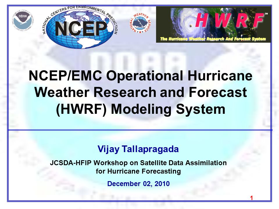 Outline Current operational HWRF system Evolution of HWRF FY2011 ongoing developments Collaborative efforts Future developments