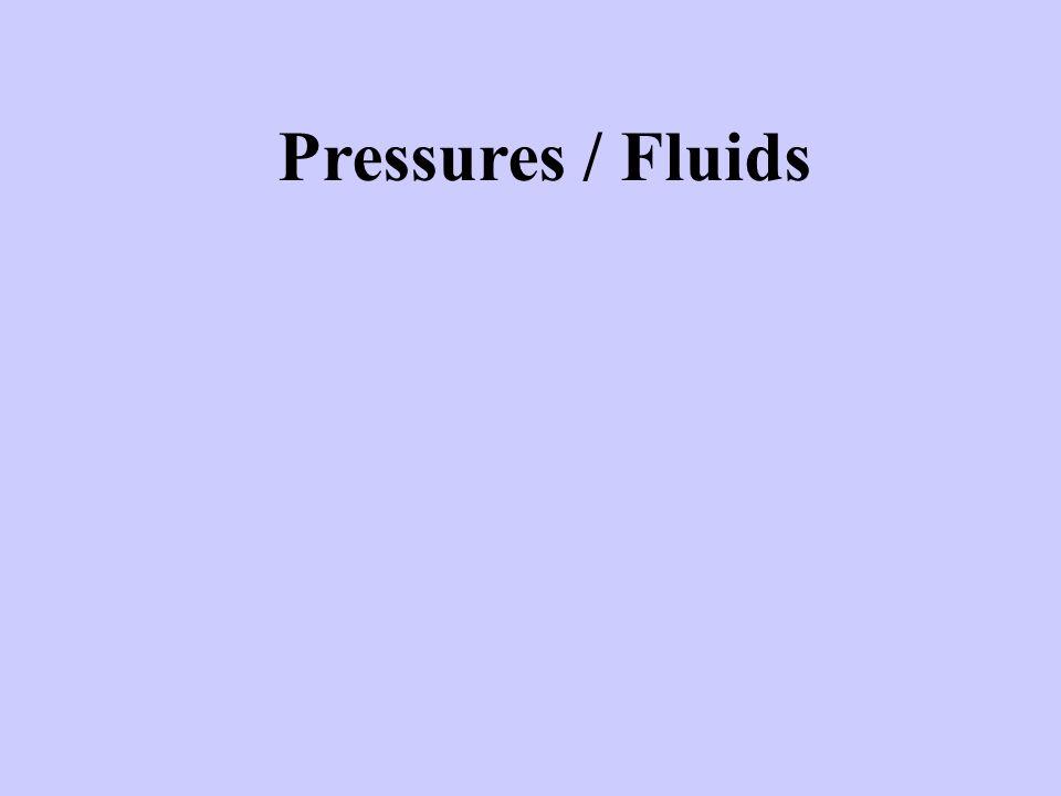 Pressures / Fluids