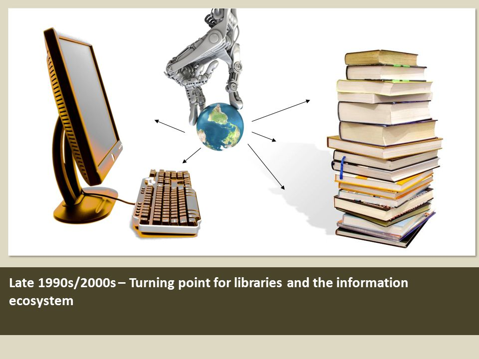 Late 1990s/2000s – Turning point for libraries and the information ecosystem