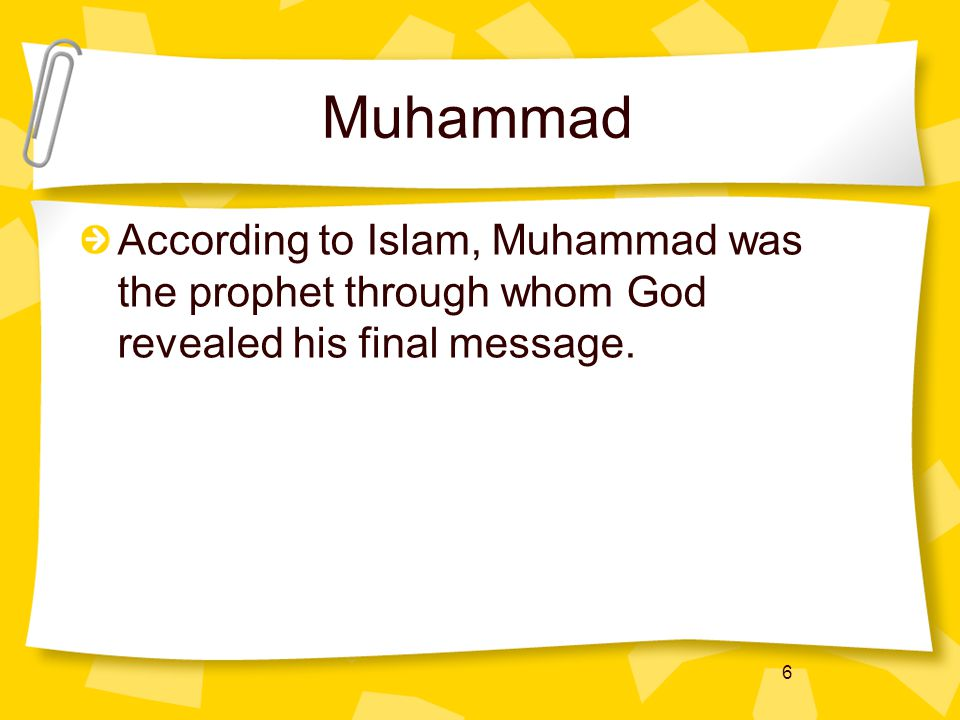 7 Islam, Judaism, and Christianity Islam is related to Judaism and Christianity because all three religions are monotheistic (believing in one God)