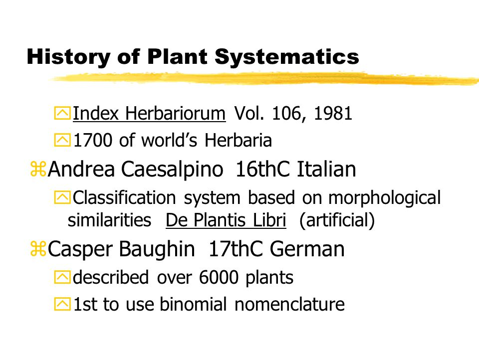History of Plant Systematics yIndex Herbariorum Vol.