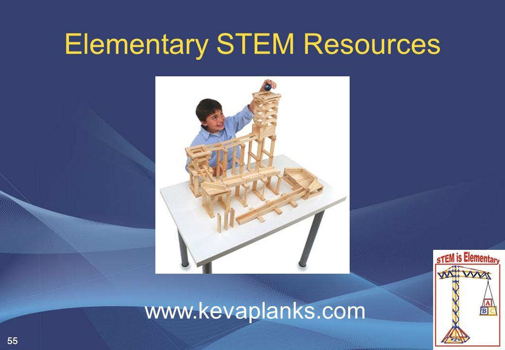 Elementary STEM Resources 55 www.kevaplanks.com