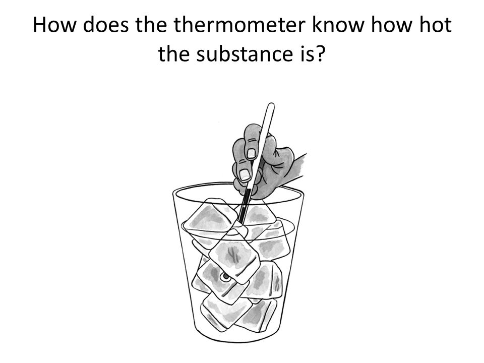How do we measure temperature? Think about using a thermometer