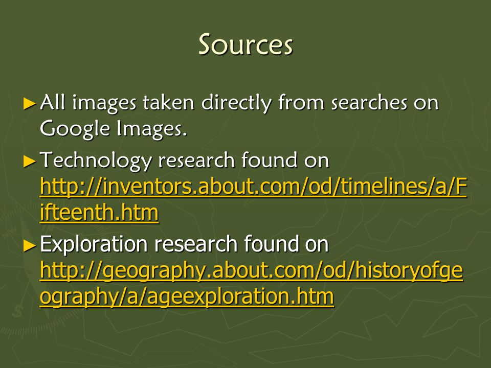 Sources ► All images taken directly from searches on Google Images.