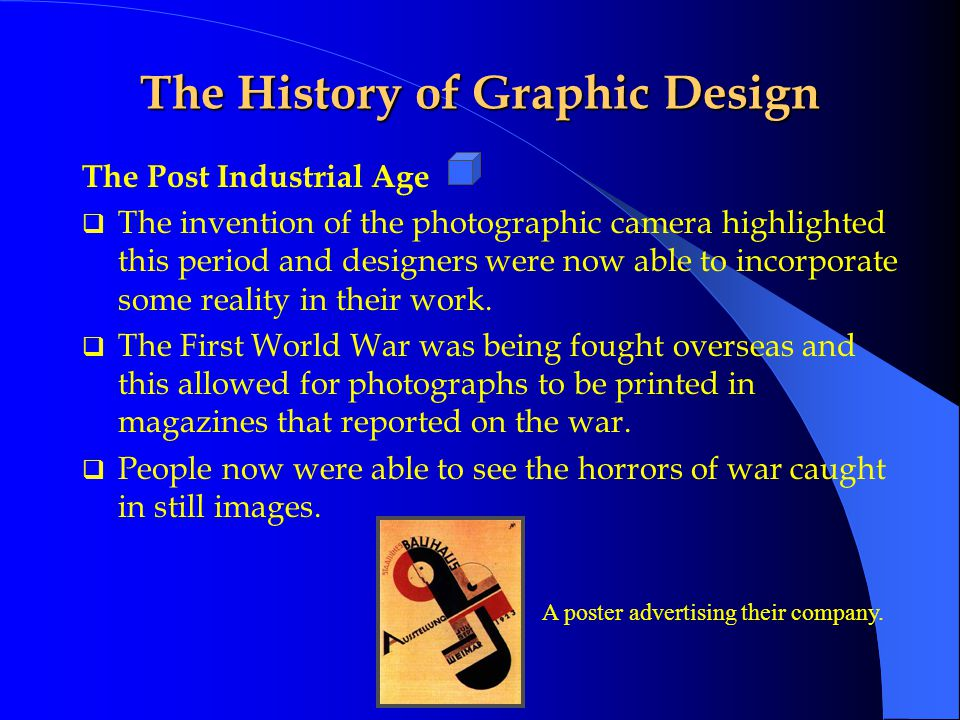 The History of Graphic Design Printed work produced on the Linotype machine The Industrial Age  The Industrial Age also brought about high speed printing presses.