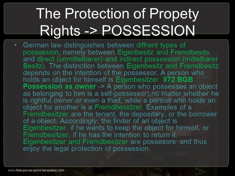 Property Rights in Respect of Claims -> the notion of claim When we deal with objects of property law, most of us will think of corporeal or tangible objects.
