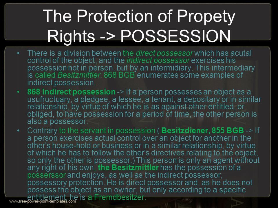 Claims as an object of Property law .