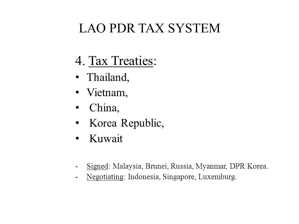 LAO PDR TAX SYSTEM 4.