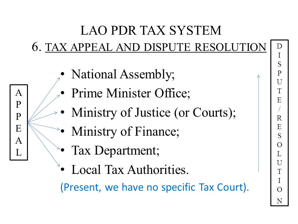 LAO PDR TAX SYSTEM 6.