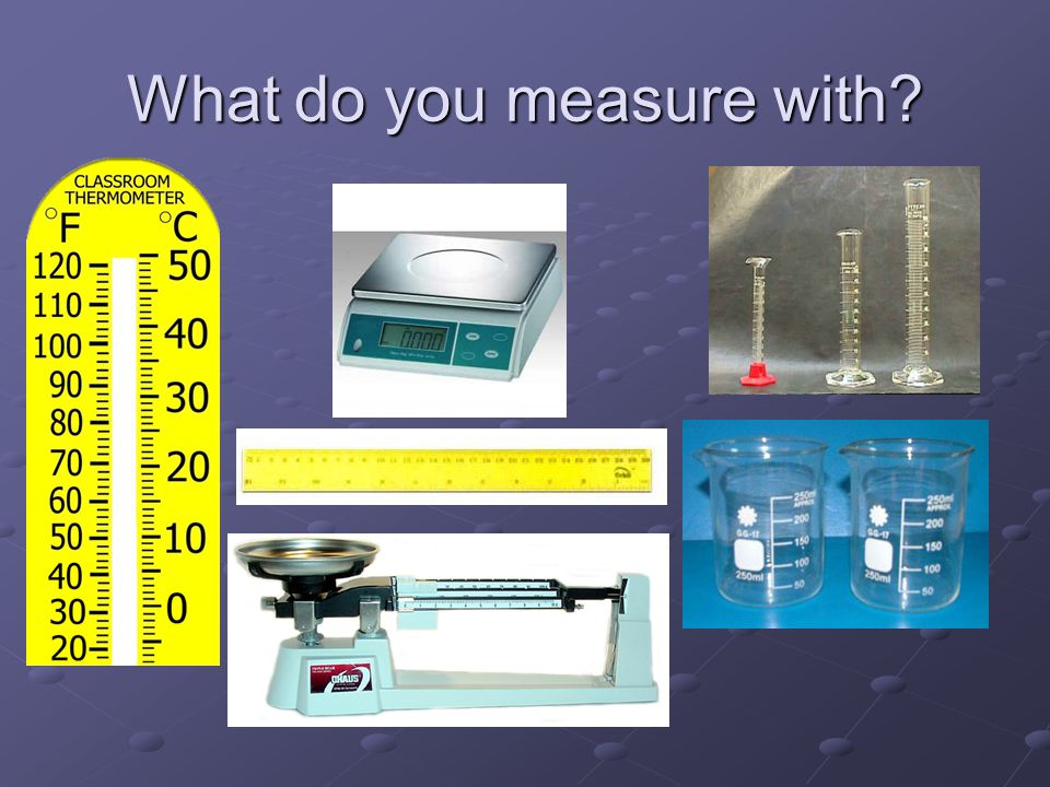 What do you measure with?