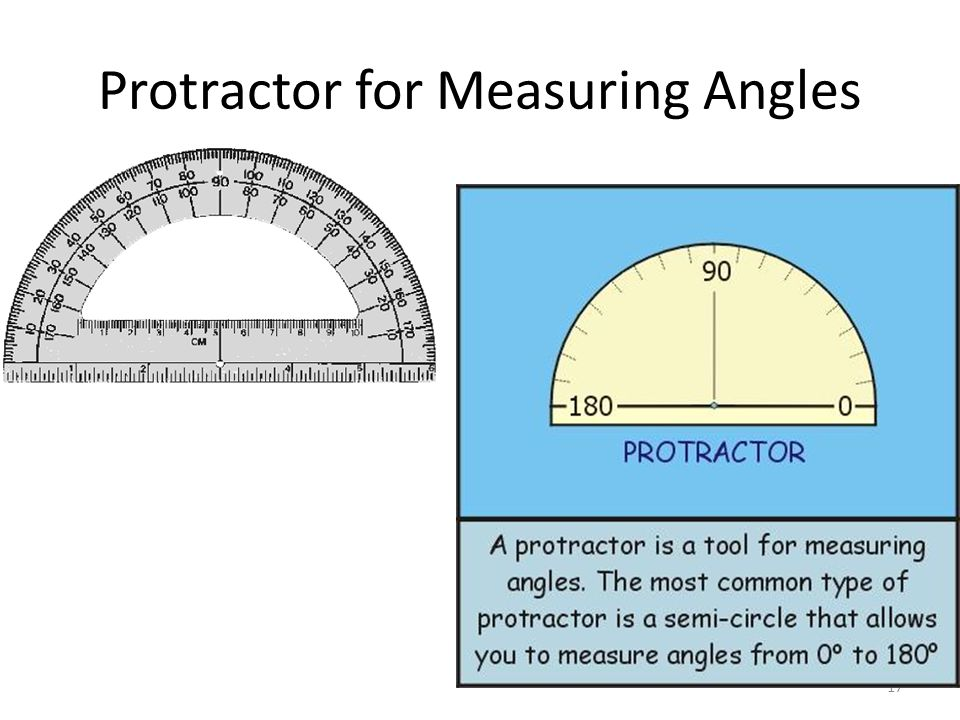 17 Protractor for Measuring Angles