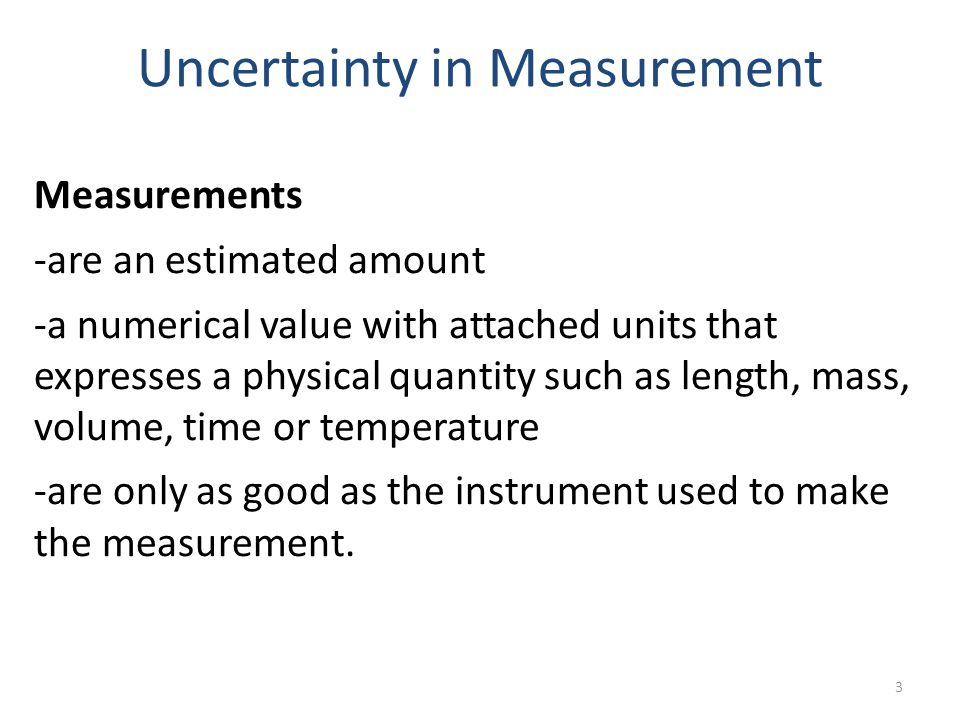 14 Significant figures or Significant digits ANY numbers generated by means of a measurement (length, volume, time, etc) should be expressed in the correct number of significant figures.