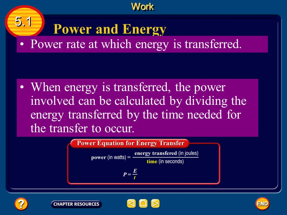 Calculating Power Because the watt is a small unit, power often is expressed in kilowatts. One kilowatt (kW) equals 1,000 W.WorkWork 5.1