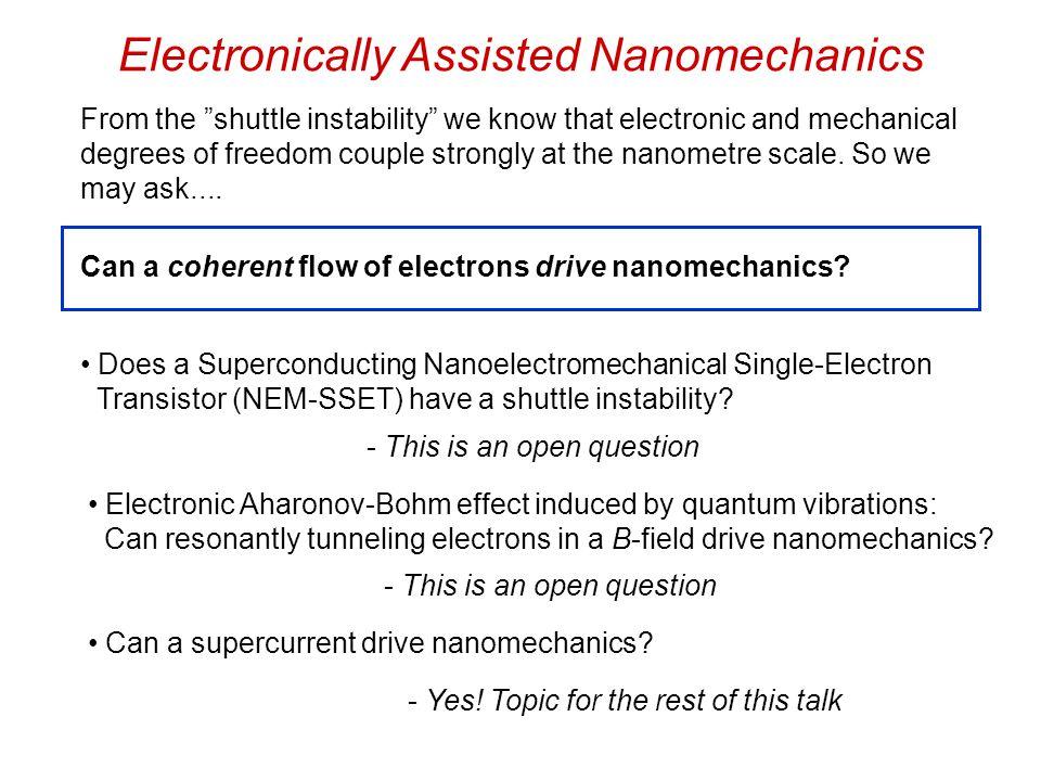 Supercurrent-Driven Nanomechanics Model: Driven, damped nonlinear oscillator G.