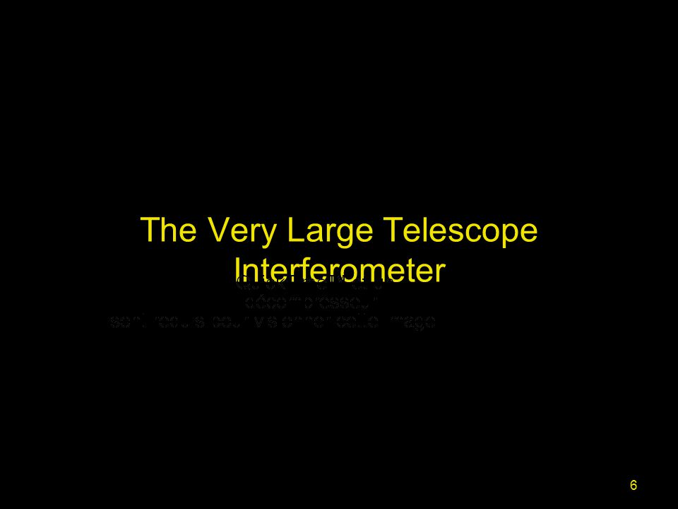 6 The Very Large Telescope Interferometer
