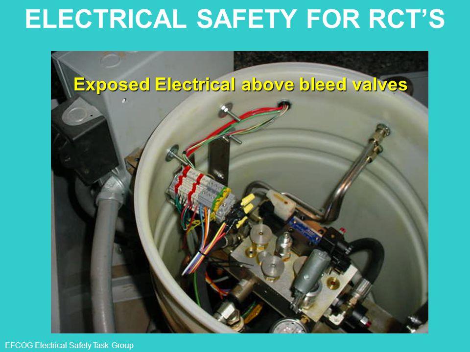 EFCOG Electrical Safety Task Group Exposed Electrical above bleed valves ELECTRICAL SAFETY FOR RCT'S