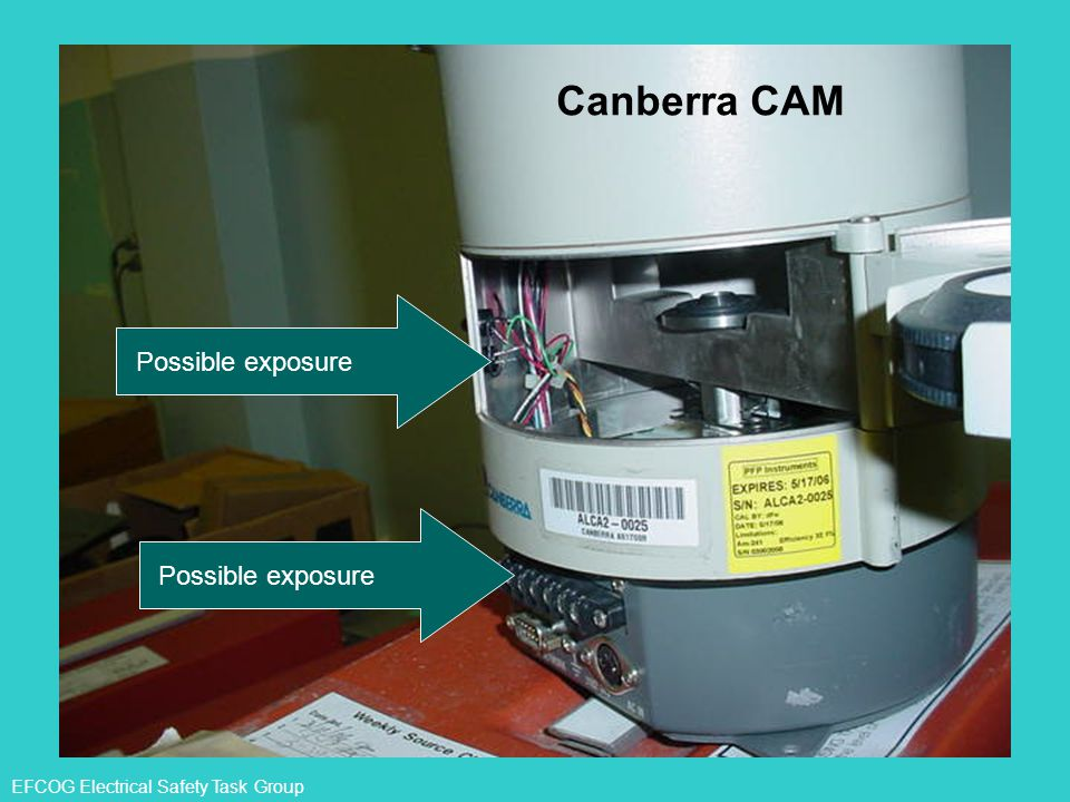 EFCOG Electrical Safety Task Group Possible exposure Canberra CAM Possible exposure