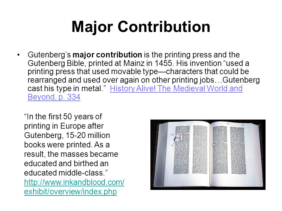 Development Three inventions within a span of a couple of years revolutionized Gutenberg s printing press.