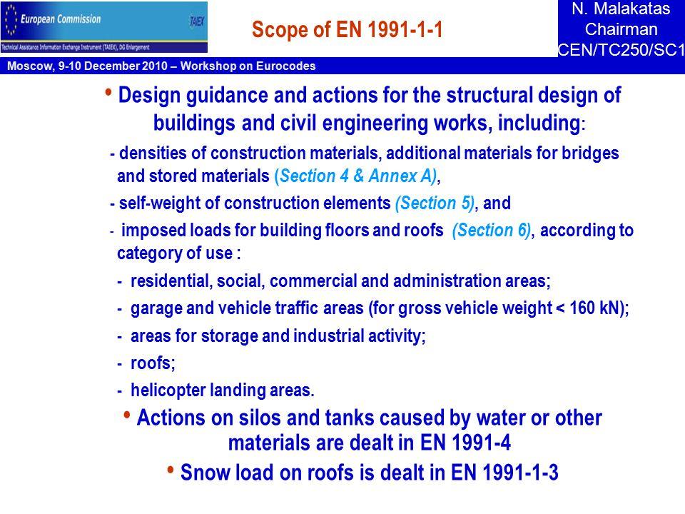 Moscow, 9-10 December 2010 – Workshop on Eurocodes N.
