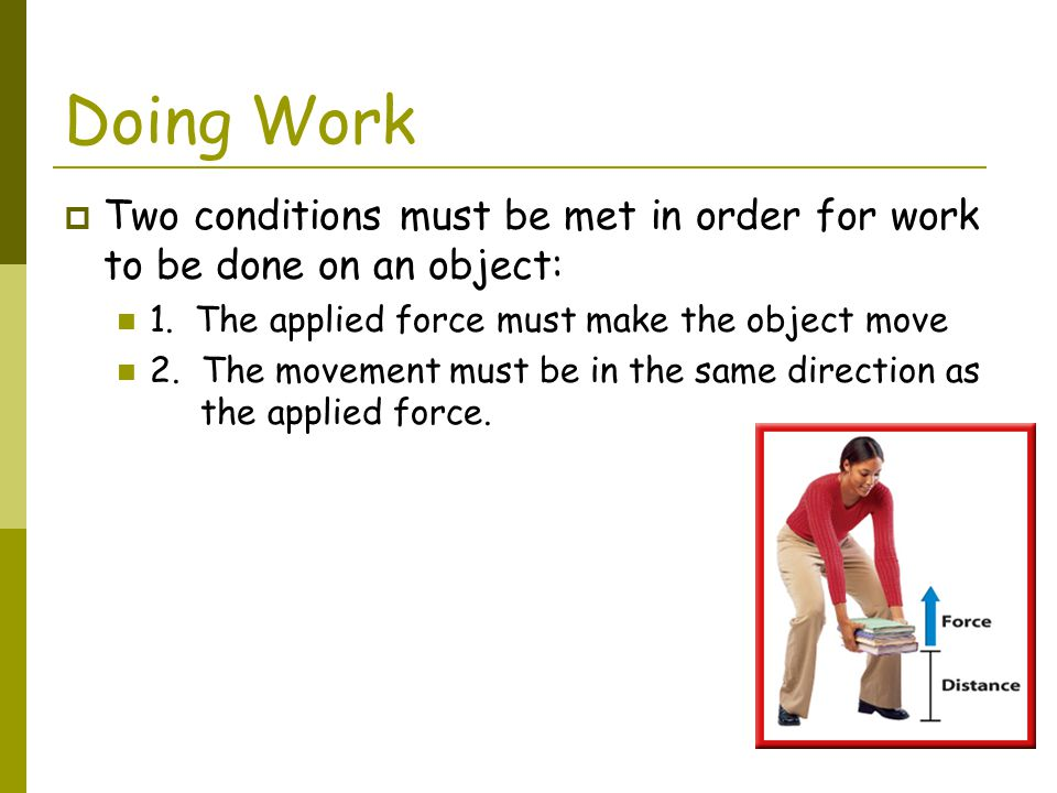 Power Practice Problem #2  In lifting a baby from a crib, 50J of work are done.