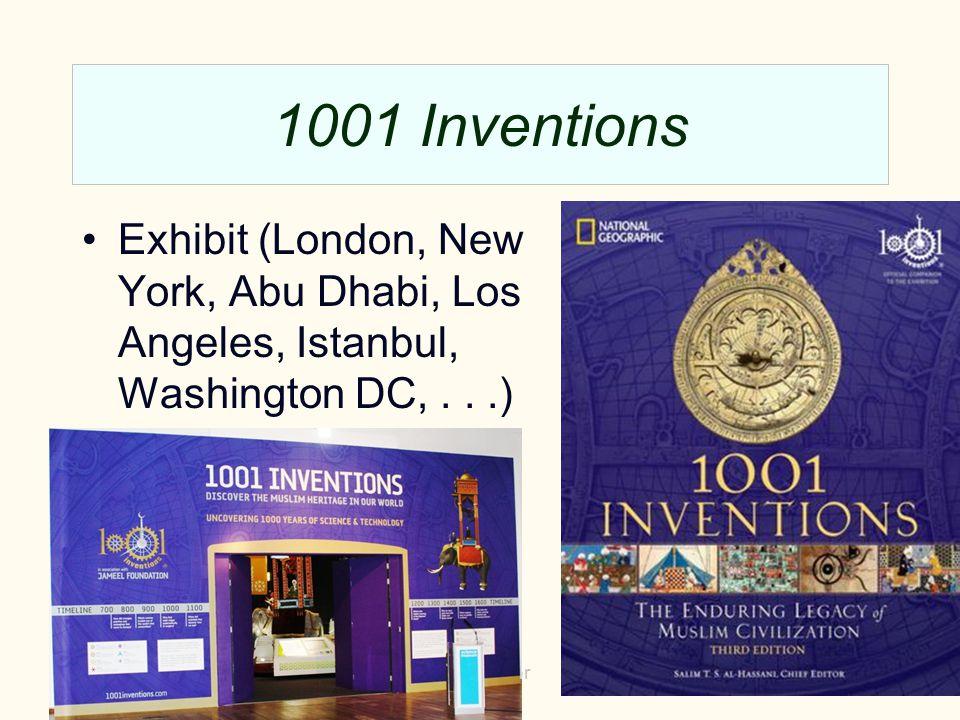 1001 Inventions Exhibit (London, New York, Abu Dhabi, Los Angeles, Istanbul, Washington DC,...) and catalog. 2013Manchester2