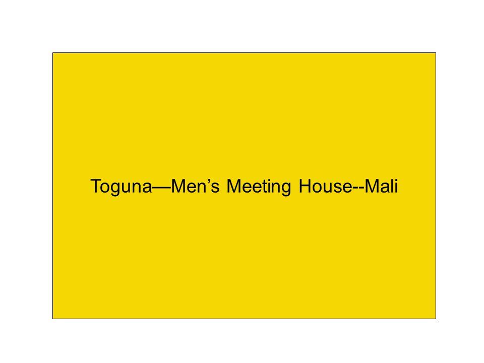 Toguna—Men's Meeting House--Mali